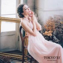 東京衣服 古典夫人 綁繩繞頸性感露背雪紡長禮服 限時特價2個月11/8止
