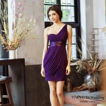 東京衣服 希臘魅惑 單肩彈性網紗包臀洋裝小禮服
