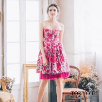 東京衣服 許瑋甯 普羅旺斯玫瑰 心型領 洋裝小禮服